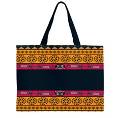 Pattern Ornaments Africa Safari Summer Graphic Zipper Large Tote Bag