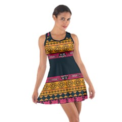 Pattern Ornaments Africa Safari Summer Graphic Cotton Racerback Dress