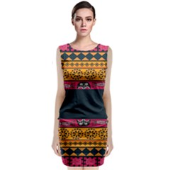 Pattern Ornaments Africa Safari Summer Graphic Classic Sleeveless Midi Dress