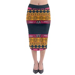 Pattern Ornaments Africa Safari Summer Graphic Midi Pencil Skirt