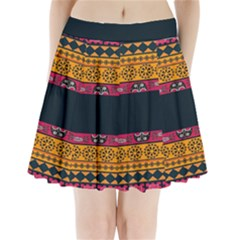 Pattern Ornaments Africa Safari Summer Graphic Pleated Mini Skirt