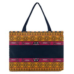 Pattern Ornaments Africa Safari Summer Graphic Medium Zipper Tote Bag