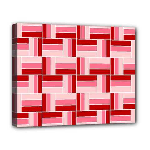 Pink Red Burgundy Pattern Stripes Deluxe Canvas 20  X 16