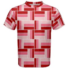 Pink Red Burgundy Pattern Stripes Men s Cotton Tee