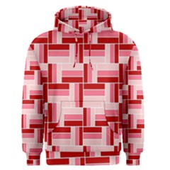 Pink Red Burgundy Pattern Stripes Men s Pullover Hoodie