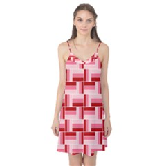 Pink Red Burgundy Pattern Stripes Camis Nightgown