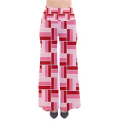 Pink Red Burgundy Pattern Stripes Pants