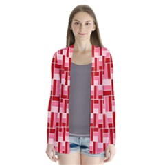 Pink Red Burgundy Pattern Stripes Cardigans