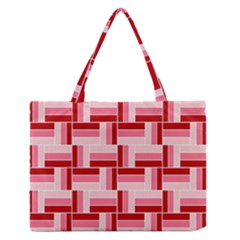 Pink Red Burgundy Pattern Stripes Medium Zipper Tote Bag