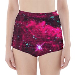 Pistol Star And Nebula High Waisted Bikini Bottoms