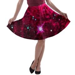 Pistol Star And Nebula A Line Skater Skirt