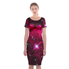 Pistol Star And Nebula Classic Short Sleeve Midi Dress