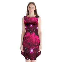 Pistol Star And Nebula Sleeveless Chiffon Dress