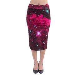 Pistol Star And Nebula Midi Pencil Skirt