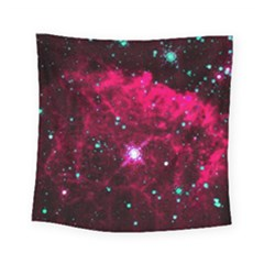 Pistol Star And Nebula Square Tapestry (small)