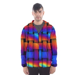 Rainbow Weaving Pattern Hooded Wind Breaker (men)