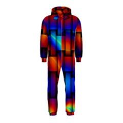 Rainbow Weaving Pattern Hooded Jumpsuit (kids)