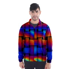 Rainbow Weaving Pattern Wind Breaker (men)