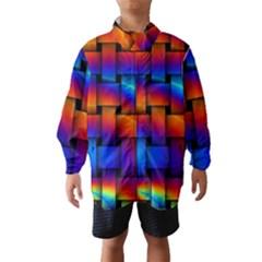 Rainbow Weaving Pattern Wind Breaker (kids)