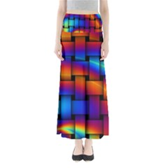 Rainbow Weaving Pattern Maxi Skirts