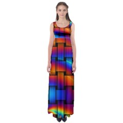 Rainbow Weaving Pattern Empire Waist Maxi Dress