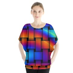 Rainbow Weaving Pattern Blouse