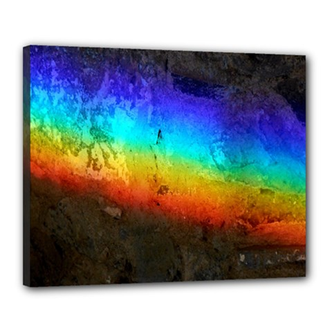 Rainbow Color Prism Colors Canvas 20  X 16