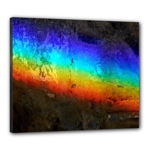 Rainbow Color Prism Colors Canvas 24  X 20
