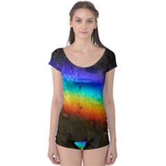 Rainbow Color Prism Colors Boyleg Leotard