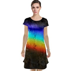 Rainbow Color Prism Colors Cap Sleeve Nightdress