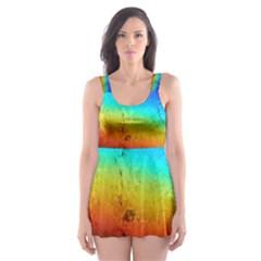 Rainbow Color Prism Colors Skater Dress Swimsuit