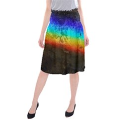 Rainbow Color Prism Colors Midi Beach Skirt