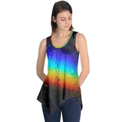 Rainbow Color Prism Colors Sleeveless Tunic