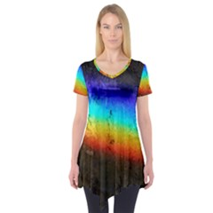 Rainbow Color Prism Colors Short Sleeve Tunic