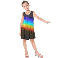 Rainbow Color Prism Colors Kids  Sleeveless Dress