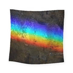 Rainbow Color Prism Colors Square Tapestry (small)