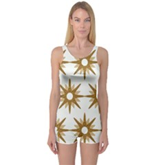 Seamless Repeating Tiling Tileable One Piece Boyleg Swimsuit