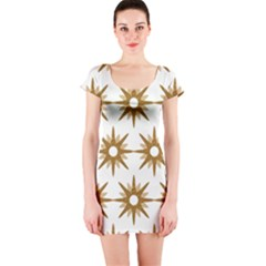 Seamless Repeating Tiling Tileable Short Sleeve Bodycon Dress