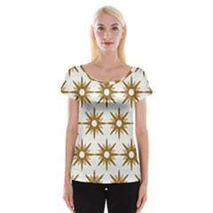Seamless Repeating Tiling Tileable Women s Cap Sleeve Top