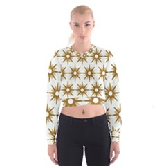 Seamless Repeating Tiling Tileable Women s Cropped Sweatshirt