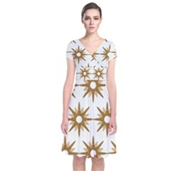Seamless Repeating Tiling Tileable Short Sleeve Front Wrap Dress
