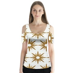 Seamless Repeating Tiling Tileable Butterfly Sleeve Cutout Tee