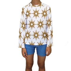 Seamless Repeating Tiling Tileable Kids  Long Sleeve Swimwear