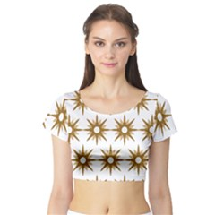 Seamless Repeating Tiling Tileable Short Sleeve Crop Top (tight Fit)