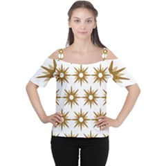 Seamless Repeating Tiling Tileable Women s Cutout Shoulder Tee