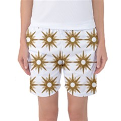 Seamless Repeating Tiling Tileable Women s Basketball Shorts