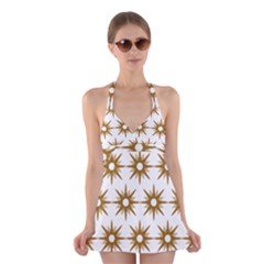 Seamless Repeating Tiling Tileable Halter Swimsuit Dress