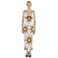 Seamless Repeating Tiling Tileable Fitted Maxi Dress