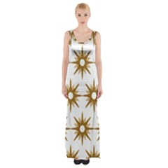 Seamless Repeating Tiling Tileable Maxi Thigh Split Dress