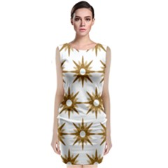 Seamless Repeating Tiling Tileable Classic Sleeveless Midi Dress